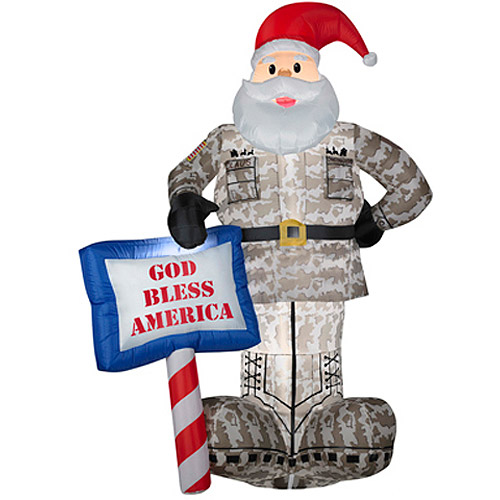 Christmas inflatable military santa blowups