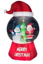Inflatable Christmas snow globes at walmart